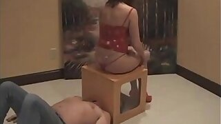 Classic Ally broils her slave inside a boxed gas chamber - More at Fartworld.co