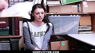 ShopLyfter - Hot Teen (Megan Sage) Stripped Down & Fucked By 2 Cocks