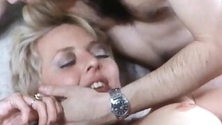 Chubby Tow-haired MILF Showing Her Big Boobs