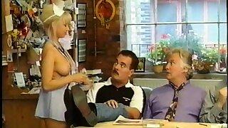 Karen White, topless nurse.