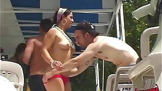 hot chicks party naked in public